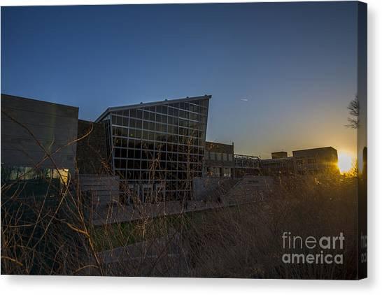 Indiana University Iu Canvas Print - Indiana State Museum Sunset 400 by David Haskett II