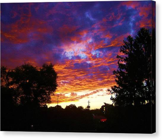 Indiana Sunset Canvas Print