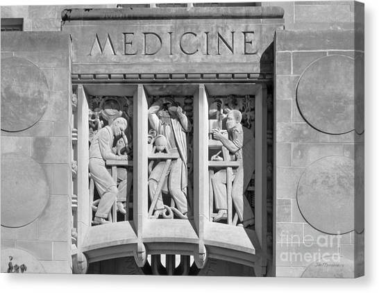 Indiana University Iu Canvas Print - Indiana University Myers Hall Medicine by University Icons