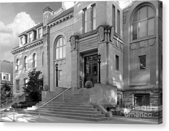 Indiana University Student Building Entrance Canvas Print by University Icons