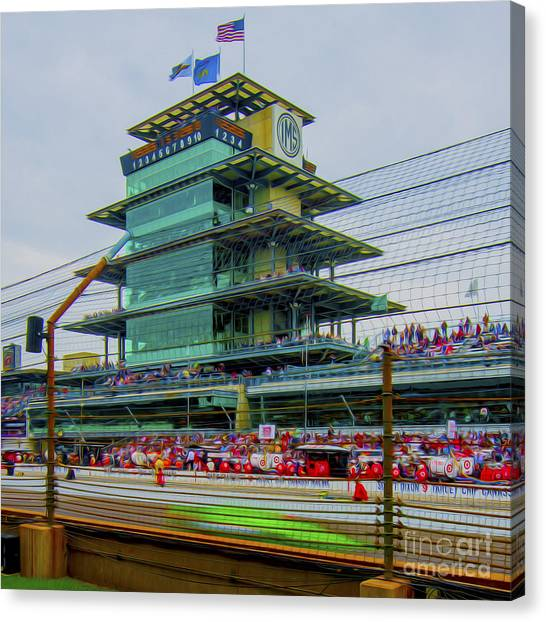 Indianapolis 500 May 2013 Square Canvas Print