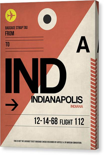 Indianapolis Canvas Print - Indianapolis Airport Poster 1 by Naxart Studio