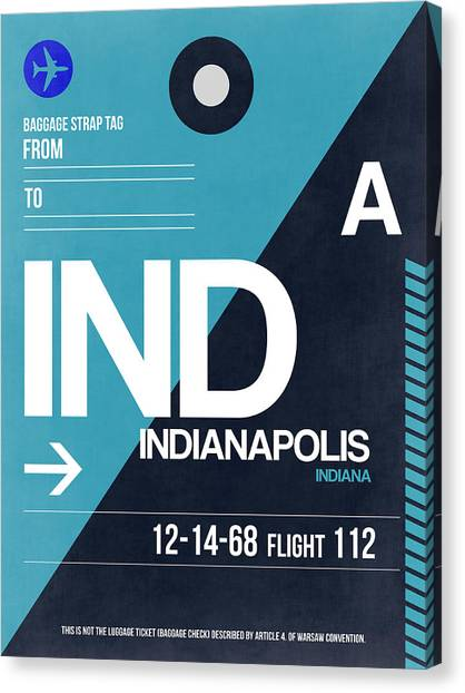 Indiana Canvas Print - Indianapolis Airport Poster 2 by Naxart Studio