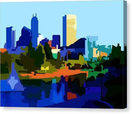 Indianapolis Cityscape Canvas Print