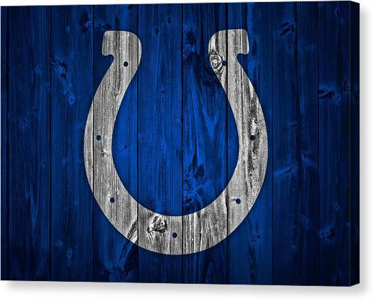 Indianapolis Colts Canvas Print - Indianapolis Colts Barn Door by Dan Sproul