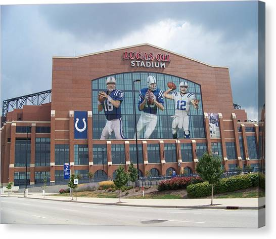 Indianapolis Colts Canvas Print - Indianapolis Colts Lucas Oil Stadium by Joe Hamilton