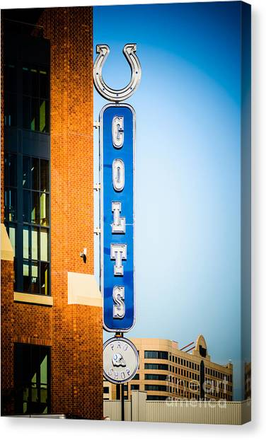 Indianapolis Colts Canvas Print - Indianapolis Colts Sign Picture by Paul Velgos