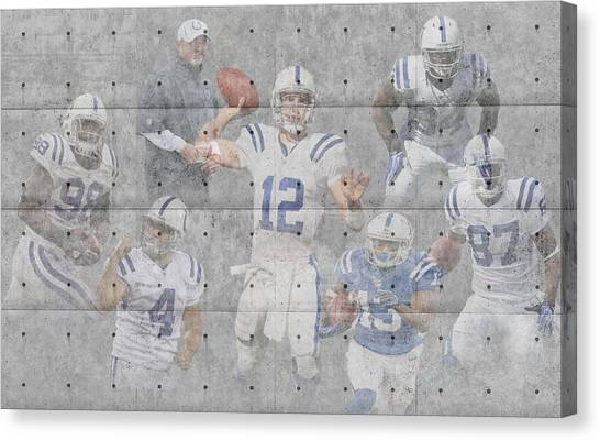 Indianapolis Colts Canvas Print - Indianapolis Colts Team by Joe Hamilton
