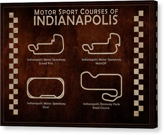 Nascar Canvas Print - Indianapolis Courses by Mark Rogan