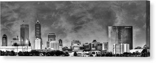 Indianapolis Indiana Skyline 0762 Canvas Print