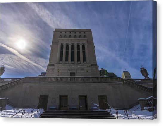 Indiana University Iu Canvas Print - Indianapolis Indiana War Memorial by David Haskett
