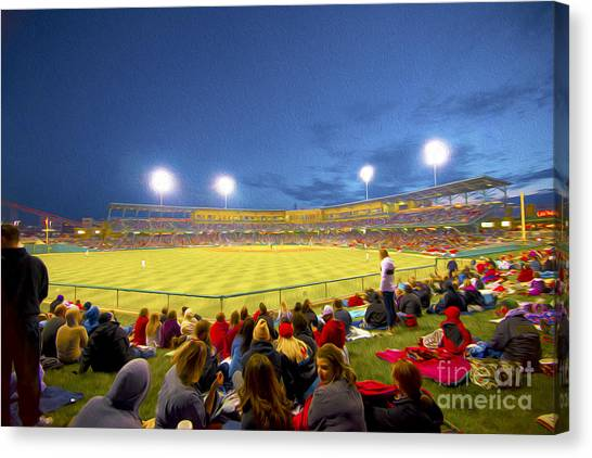 Indianapolis Indians Canvas Print by David Haskett