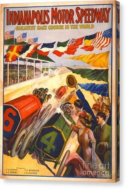 Indianapolis Motor Speedway 1909 Canvas Print
