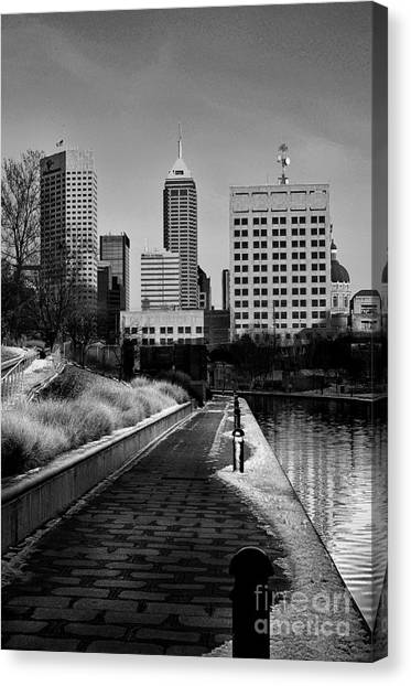 Indianapolis Skyline 21 Canvas Print