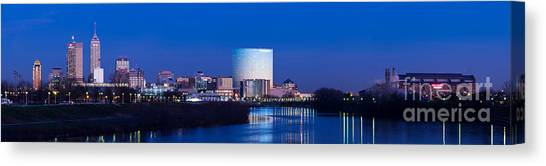 White River Canvas Print - Indianapolis Skyline by Twenty Two North Photography