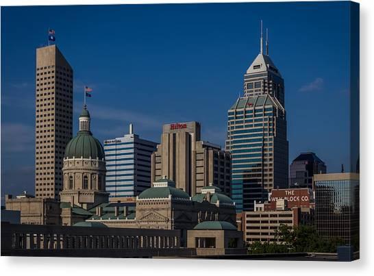 Indianapolis Skyscrapers Canvas Print