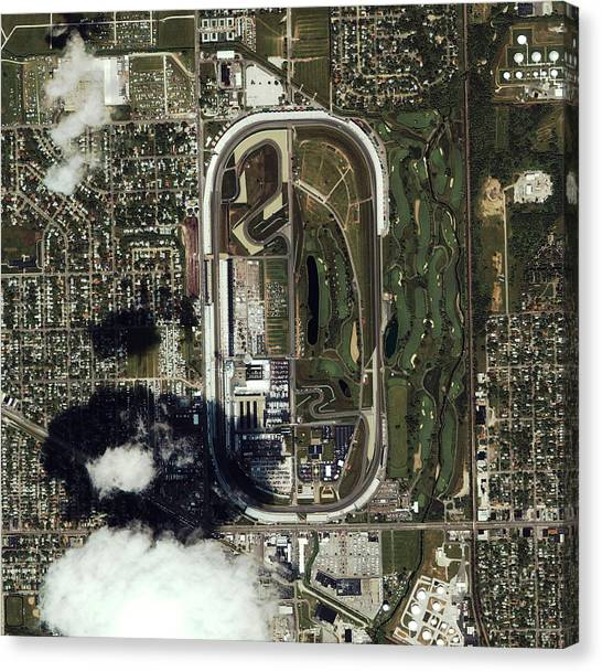 Indy 500 Canvas Print - Indianapolis Speedway by Geoeye/science Photo Library