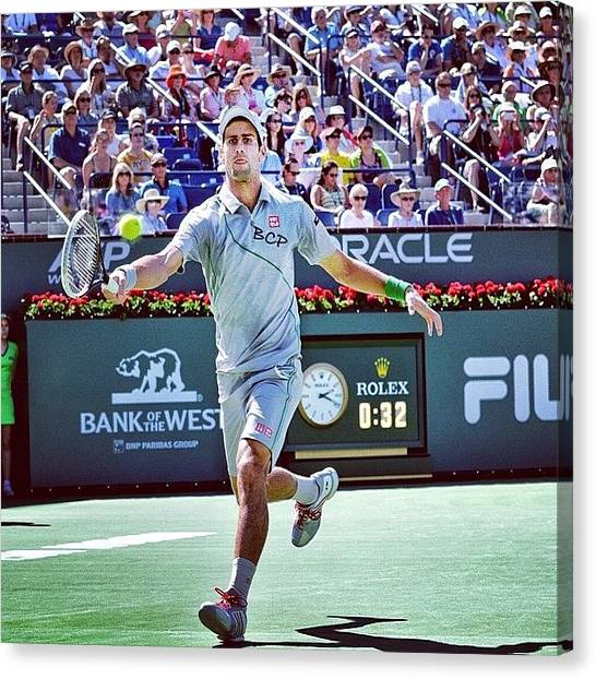 Tennis Canvas Print - #indianwells #champion #novak #djokovic by Brett Connors