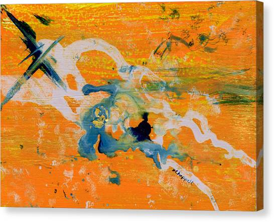 Indigo And Gold Canvas Print