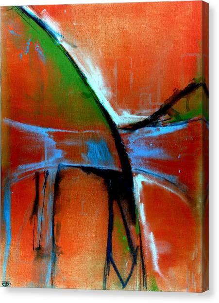 Indigo Oranges Canvas Print