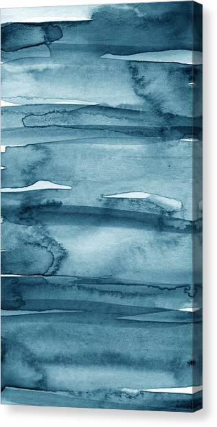 Tie-dye Canvas Print - Indigo Water- Abstract Painting by Linda Woods
