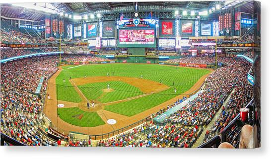 Arizona Diamondbacks Canvas Print - Indoors At Chase Field by C H Apperson