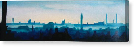 Industrial City Skyline 3 Canvas Print by Paul Mitchell