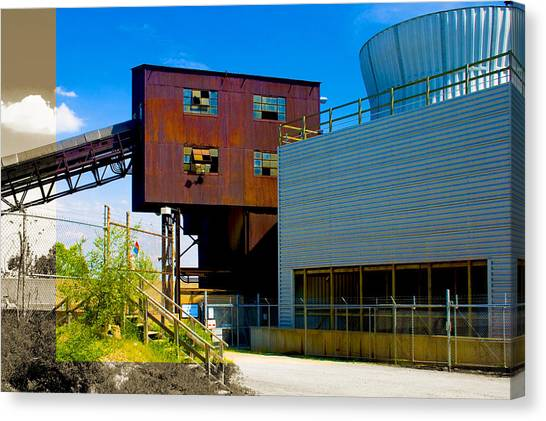 Industrial Power Plant Architectural Landscape Canvas Print