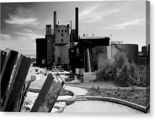 Industrial Power Plant Landscape Smokestacks Canvas Print