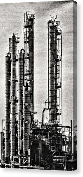 Industrial Scape In New Jersey Canvas Print