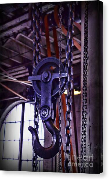 Chain Link Canvas Print - Industrial Strength Chains by Paul Ward