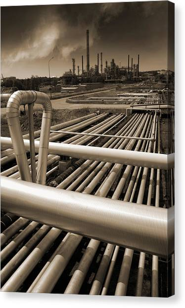 Industry Oil Gas And Fuel Canvas Print