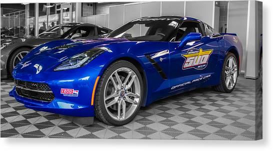 Indy 500 Corvette Pace Car Canvas Print
