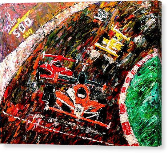 Danica Patrick Canvas Print - Indy 500  by Mark Moore