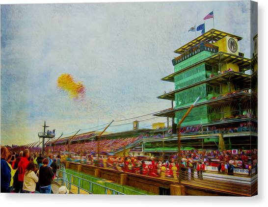 Indy 500 May 2013 Race Day Start Balloons Canvas Print
