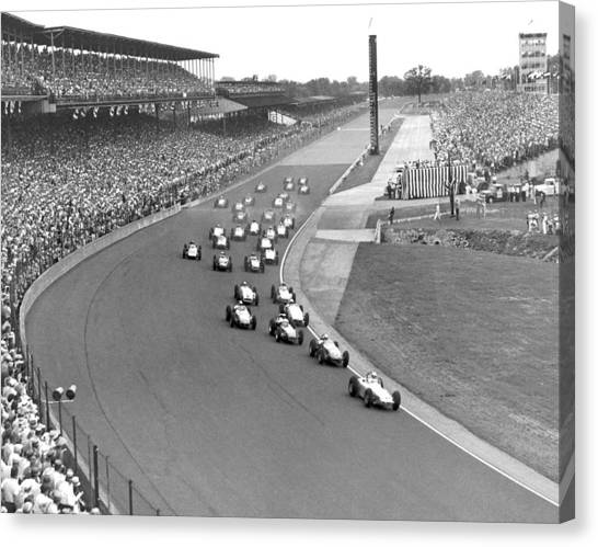 Indy 500 Race Start Canvas Print