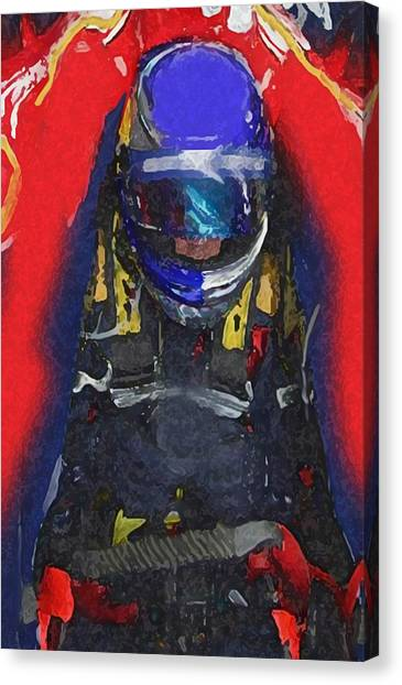 Indy Car Pilot Canvas Print