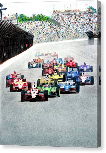 Indy 500 Canvas Print - Indy by Lyle Brown