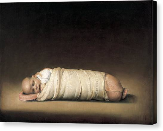 Baroque Art Canvas Print - Infant by Odd Nerdrum