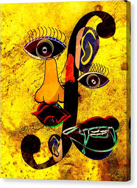 Infected Picasso Canvas Print