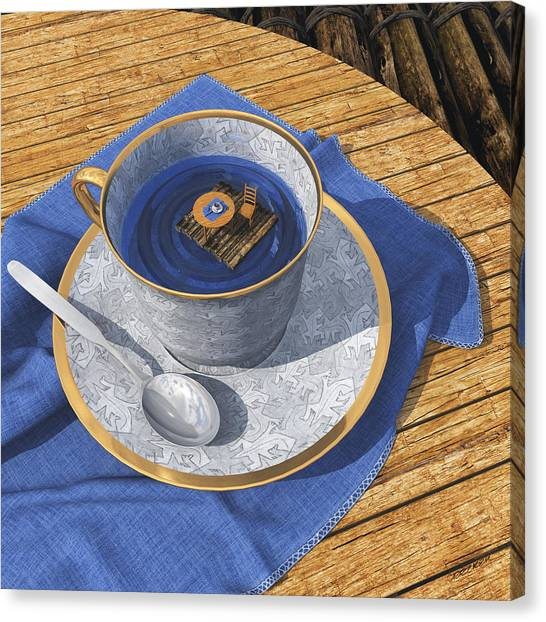 Tea Canvas Print - Infinitea by Cynthia Decker