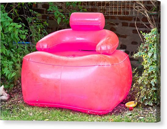 Inflatable Canvas Print - Inflatable Chair by Tom Gowanlock