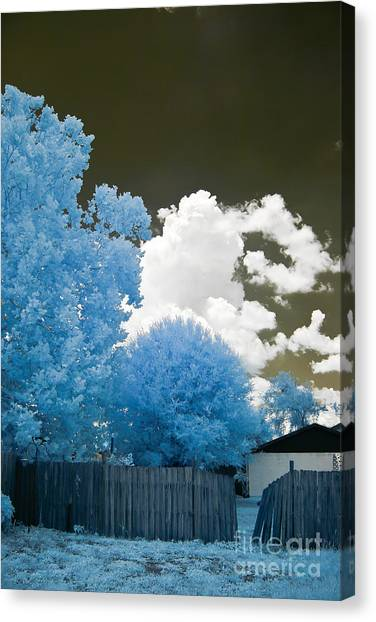 Canvas Print - Infrared Broken Fence by Jared Shomo
