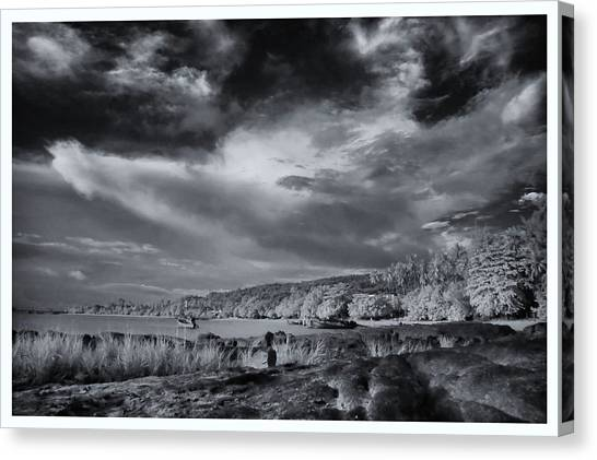 Infrared In Krabi Canvas Print by River Engel
