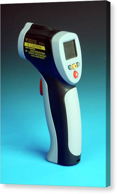 Electronic Instruments Canvas Print - Infrared Laser Thermometer by Public Health England