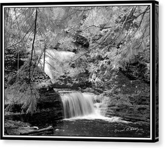Infrared Upper Buttermilk Falls 10 Canvas Print by David Blatchley