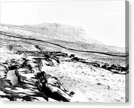 Karsts Canvas Print - Ingleborough In Snow by Alasdair Shaw