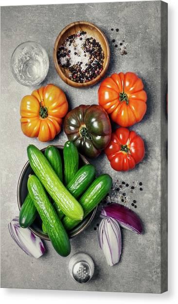 Ingredients Canvas Print by Claudia Totir