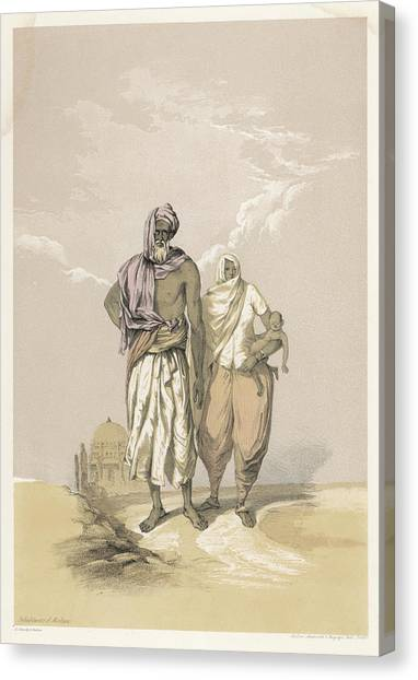 Inhabitants Of Mooltan (aka  Multan) - Canvas Print by Mary Evans Picture Library