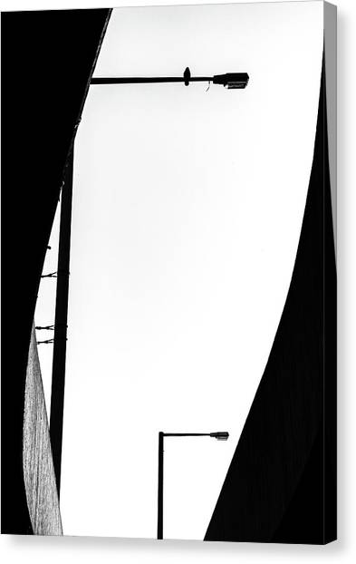 Street Lamp Canvas Print - Inhabited by J?rgen Hartlieb